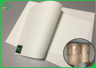 Fully Bio Compostable 70gsm Bleach Paper Roll For Takeaway packaging bags
